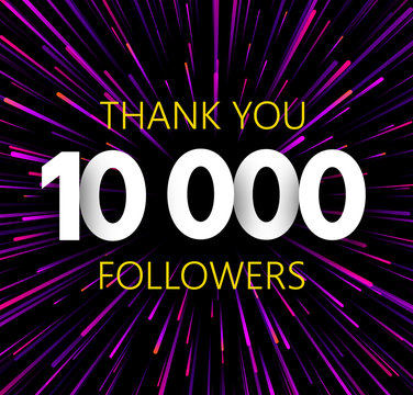 Thank you 10000 followers. Purle abstract festive poster.