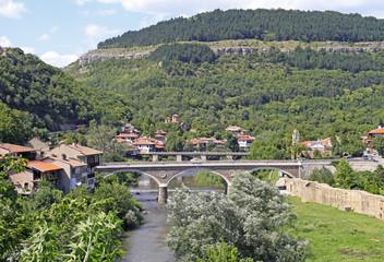 bridges over river Yantra in Veliko Tarnovo