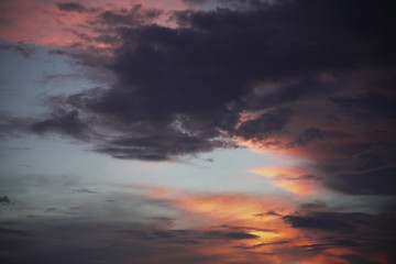 colorful of sunset sky