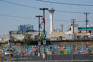 Artists praticipate in the changing landscape of the old Las Vegas down town area