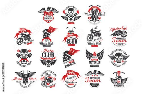 459c974e2d3 Set of vintage motorcycle club logos