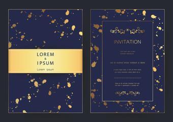 Luxury modern golden wedding, invitation, celebration,greeting,congratulations cards vector pattern background template