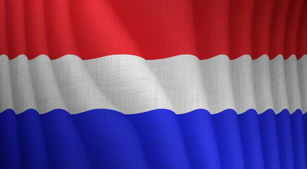 Illustration of a flying Dutch flag