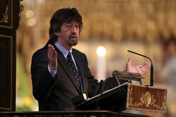Director Trevor Nunn speaks during a service of thanksgiving for Peter Hall, at Westminster Abbey in central London,