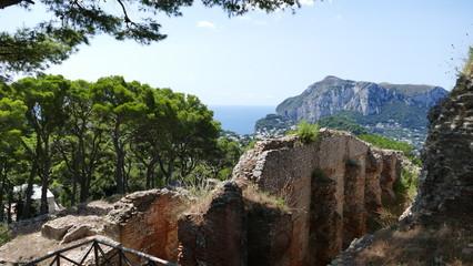 Capri Villa Jovis ruins of the palace of the roman emperor Tiberius