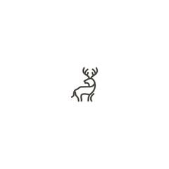 logo line deer antler abstract