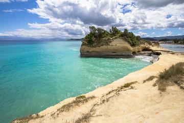 Sidari coastline on Corfu, Greece