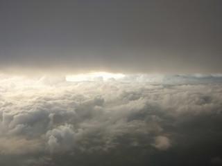 Dramatic of light shining through clouds