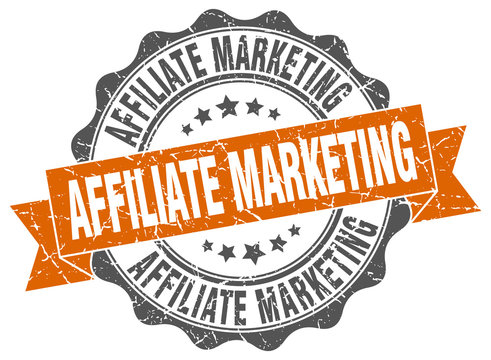 affiliate marketing stamp. sign. seal