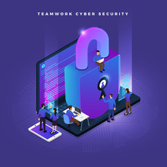 Isometric cyber security