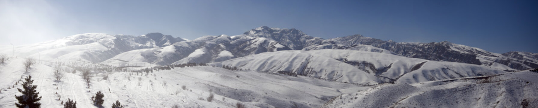 : Winter in the mountains of Kopet-Dagh in the suburbs of Ashgabat