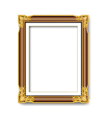 red wood and gold picture frame