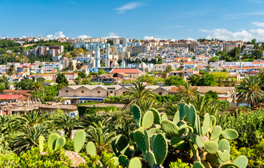 Skyline of Tipaza, a city in Algeria