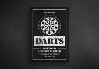 Darts Tournament Flyer Layout
