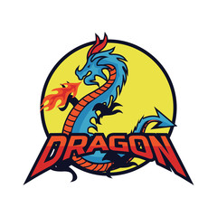 dragon logo for your business, vector illustration