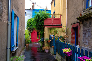 Trentemoult village in France colorful houses