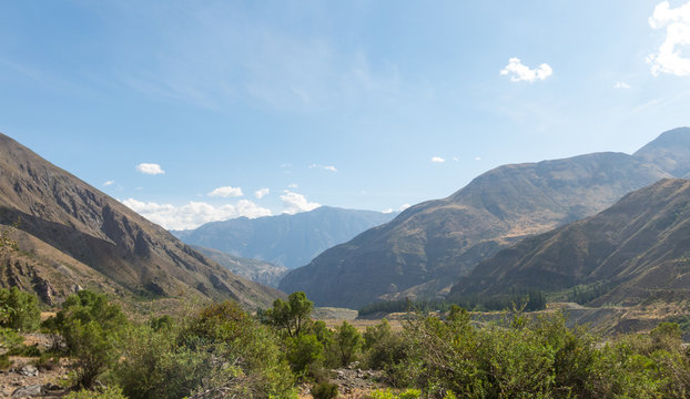 Cajon del Maipo. Maipo Canyon, a canyon located in the Andes. Near the capital Santiago. Chile.