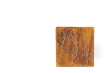 Handmade board. Stringed art. Cat legs