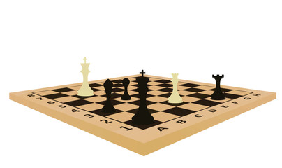 Chess table. vector illustration