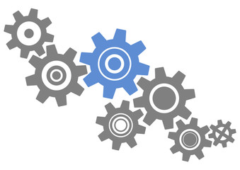 Abstract gears industrial technology vector background
