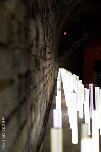 Led Stäbe Beleuchtung | Beleuchtung Von Mauer Mit Led Staben Stockfotos Und Lizenzfreie