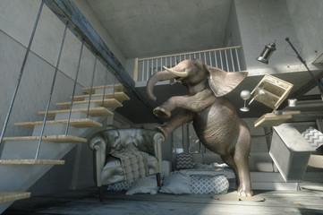3D Illustration of an elephant
