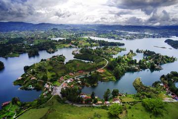 Guatape Lake (El Penol) in Antioquia, Colombia, South America