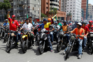Supporters of Venezuela's President Nicolas Maduro attend a rally in his support, in Caracas