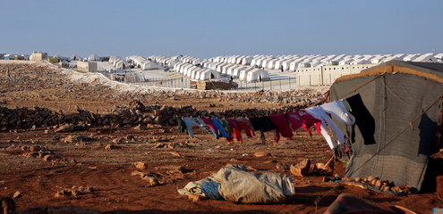 A general view of the refugee camp near Atimah village, Idlib province