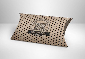 Closed Pillow Box Mockup