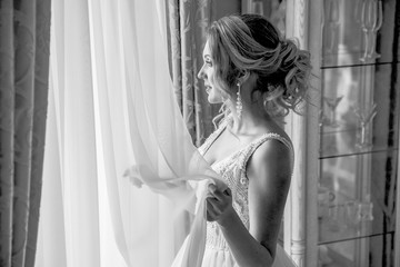 Bride's morning.The fees of the bride.Wedding photo