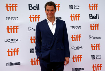 """Actor Dominic West arrives for the Canadian premiere of the movie """"Colette"""" at the Toronto International Film Festival in Toronto"""