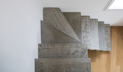 Minimal and stylish modern concrete staircase