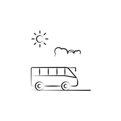tour travel icon. Element of anti aging icon for mobile concept and web apps. Doodle style tour travel icon can be used for web and mobile