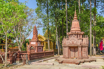 Cult site and a burial place of a small remote village Chong Koh in Cambodia