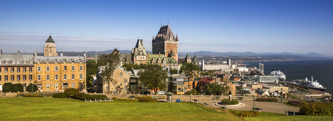 Old historic Quebec City Canada panoramic