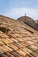 Rooftop of an old house in Dubrovnik