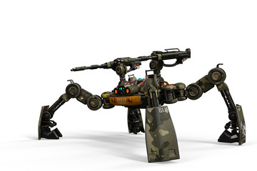 super military drone in a white background