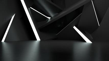 Obraz Light Show Room Studio 3 - fototapety do salonu