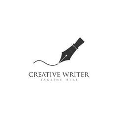 creative writer logo pen vector