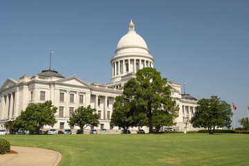 State Capitol Building Grounds Landscape Little Rock Arkansas USA