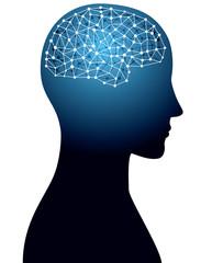 頭脳とネットワークイメージ