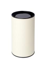 white paper tube isolated on white background