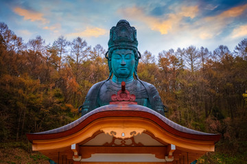 Fotobehang Temple The big Buddha - Showa daibutsu at Seiryuji temple in Aomori, Japan