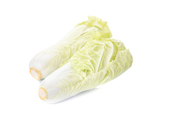 chinese cabbage isolated on white background.