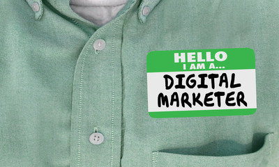 Digital Marketer Online Marketing Professional Name Tag 3d Illustration
