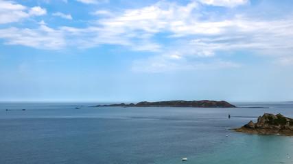 beautiful coast in bretagne in france