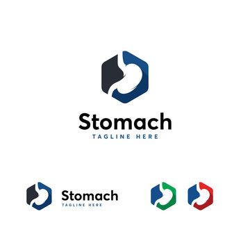 Stomach logo designs symbol, Stomach Care logo template