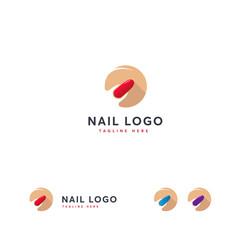 Nail Logo designs concept vector, Flat designs nail logo template