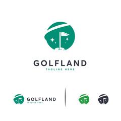 Golf Land logo designs concept vector, Iconic Golf Logo template